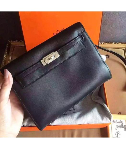 Hermes Kelly Original Swift Leather Shoulder Bag Black