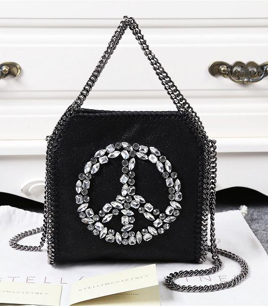 Stella McCartney Falabella Diamonds Round-shaped Small Shoulder Bag Black