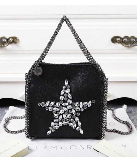 Stella McCartney Falabella Diamonds Star Small Shoulder Bag Black