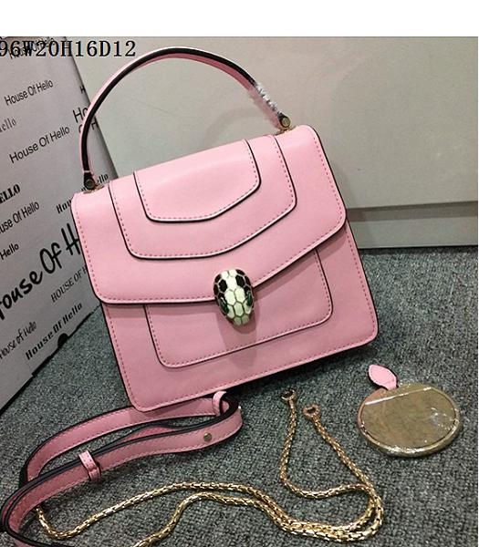 Bvlgari Pink Original Leather 20cm Chains Small Bag