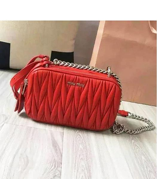 Miu Miu Matelasse Red Original Leather Small Bag