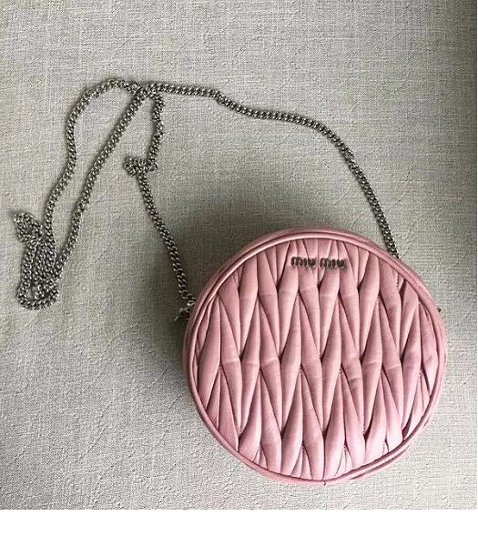 Miu Miu Matelasse Pink Original Leather Small Chains Bag