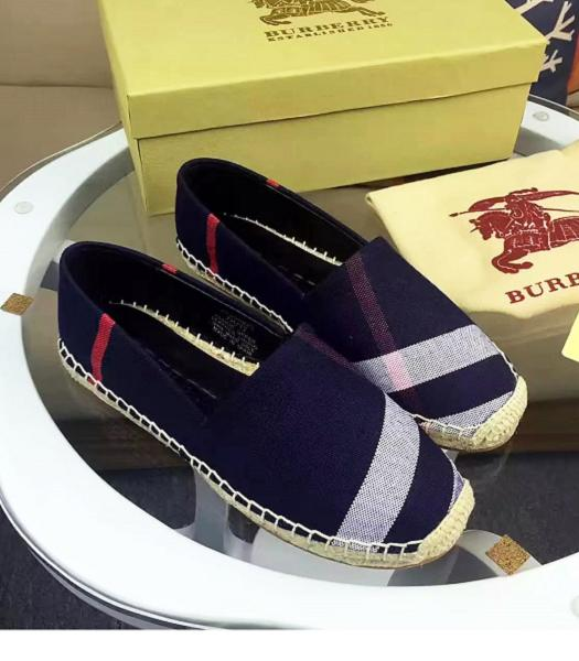 Burberry Supreme Canvas Casual Fisherman Shoes Dark Blue