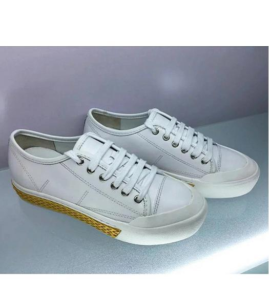 TOD'S Calfskin Leather Casual Shoes White
