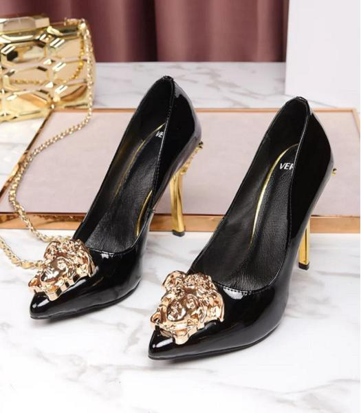 Versace Black New Style Patent Leather High Heels