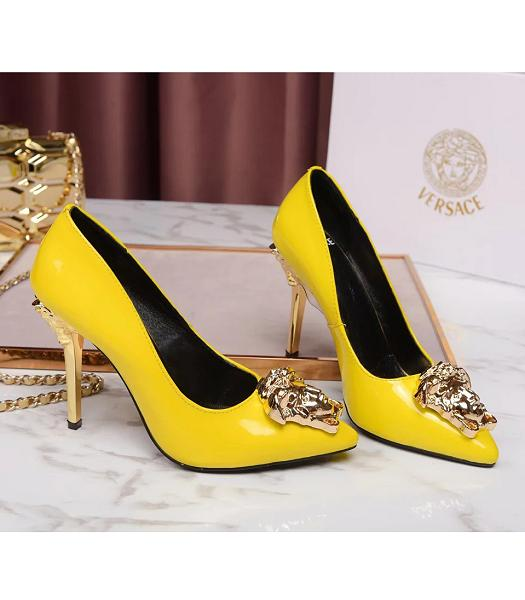 Versace Lemon New Style Calfskin Leather High Heels