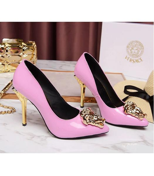 Versace Pink New Style Calfskin Leather High Heels