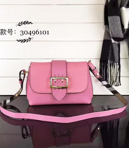 Burberry Pink Grainy Leather Small Shoulder Bag