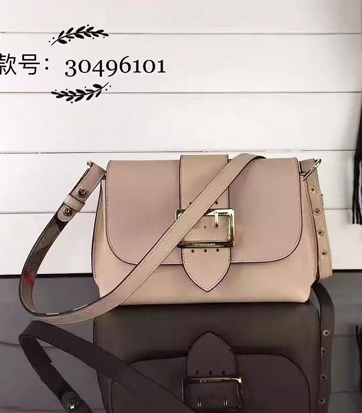 Burberry Apricot Grainy Leather Small Shoulder Bag
