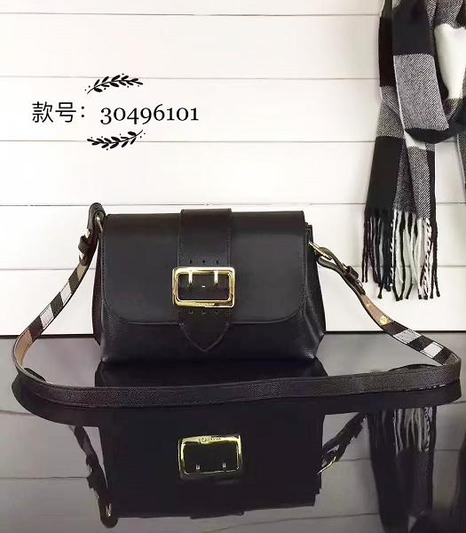 Burberry Black Grainy Leather Small Shoulder Bag