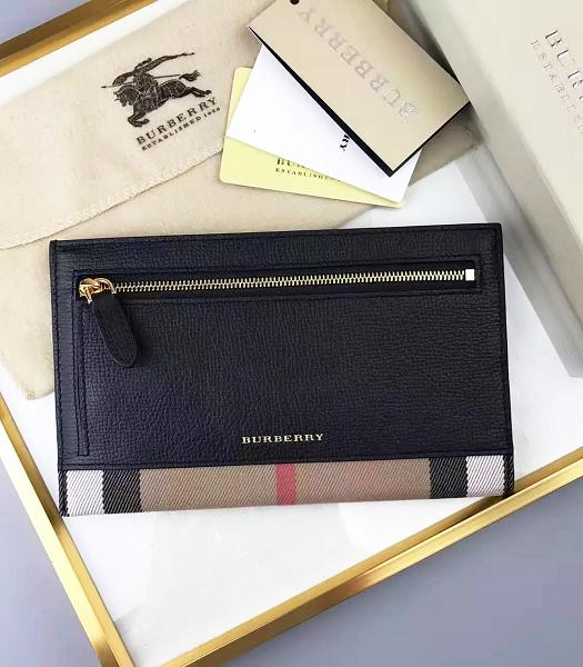 Burberry Canvas With Calfskin Leather Wallet Black