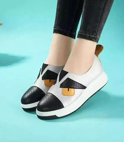 Fendi White New Style Little Monsters Casual Shoes