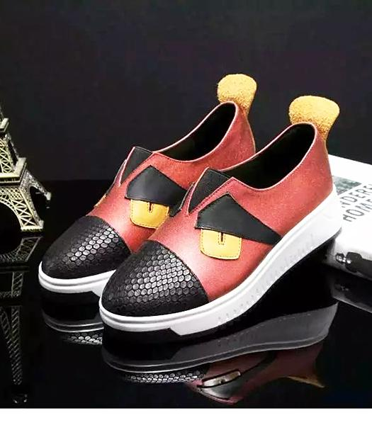Fendi Red New Style Little Monsters Casual Shoes
