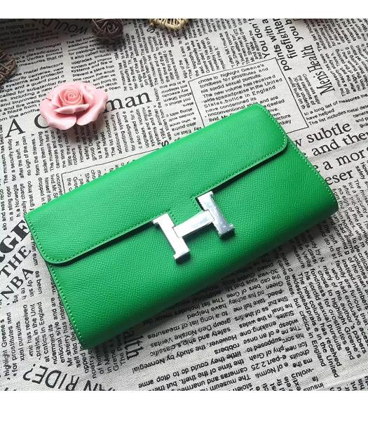 Hermes Constance Original Palm Print Wallet Green