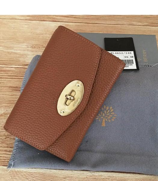 Mulberry Litchi Veins Leather Wallet Earth Yellow