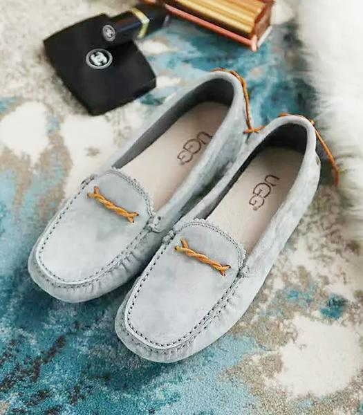 UGG Grey New Style Suede Leather Casual Shoes