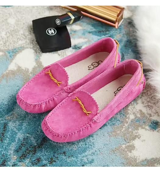UGG Peach Red New Style Suede Leather Casual Shoes