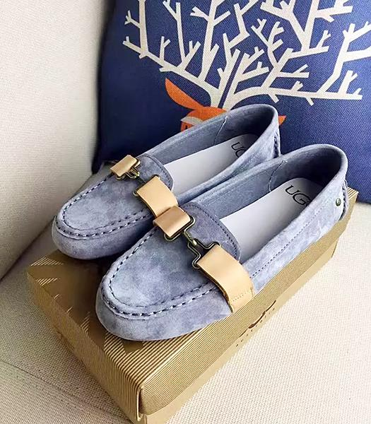 UGG Denim Blue New Style Suede Leather Casual Shoes