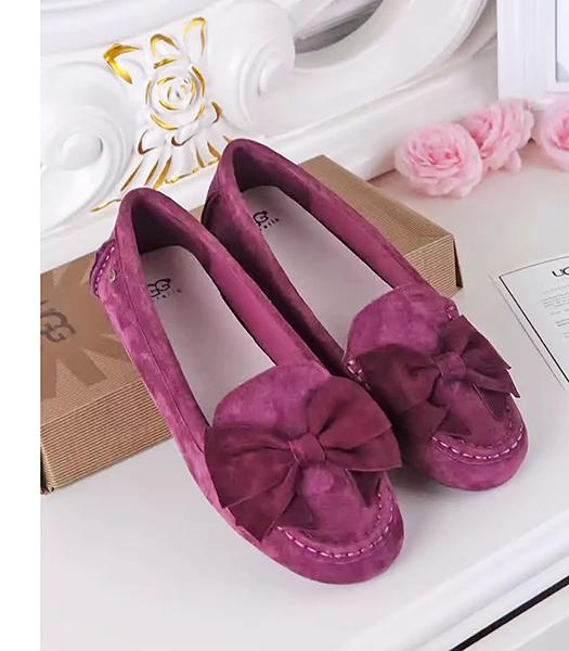 UGG Purple New Style Suede Leather Casual Shoes