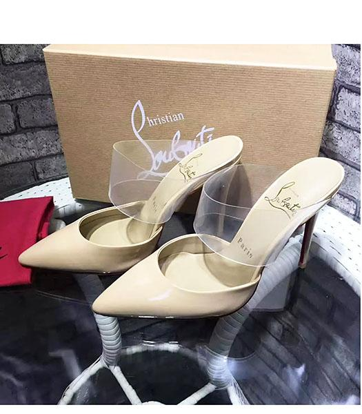 Christian Louboutin Apricot Patent Leather 10.5cm High Heel Sandals