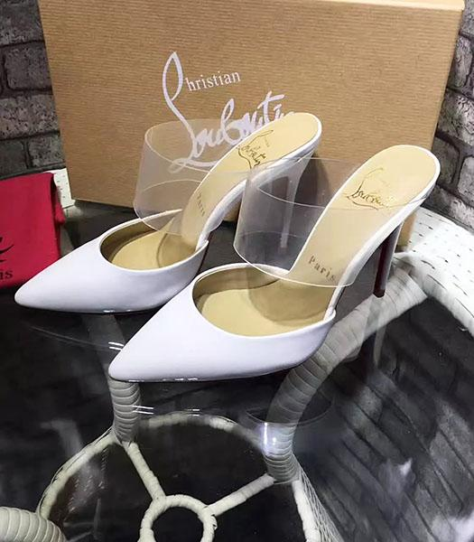 Christian Louboutin White Patent Leather 10.5cm High Heel Sandals