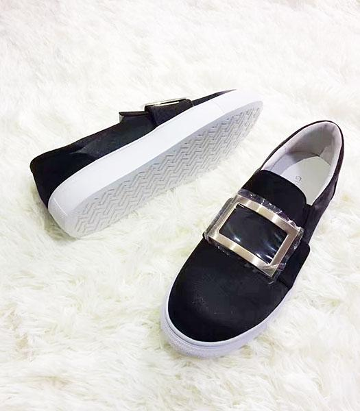 Givenchy Black New Style Silk Square Casual Shoes
