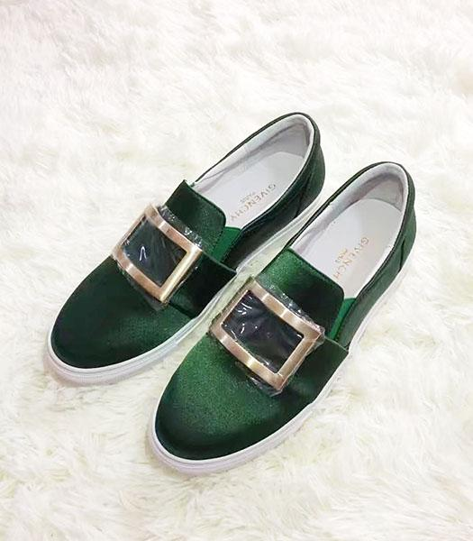 Givenchy Green New Style Silk Square Casual Shoes