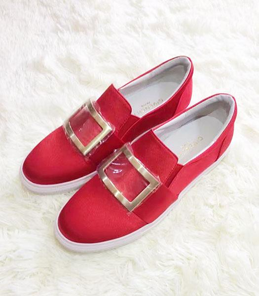 Givenchy Red New Style Silk Square Casual Shoes