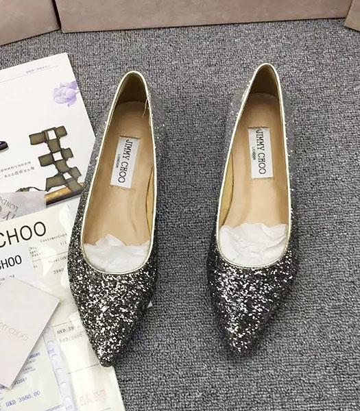 Jimmy Choo Sequins Flat Casual Shoes Black