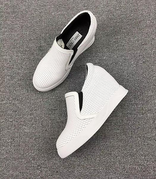 Jimmy Choo White Hot Style Calfskin Leather Casual Shoes