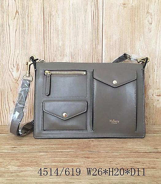 Mulberry Latest Style Khaki Leather Small Shoulder Bag