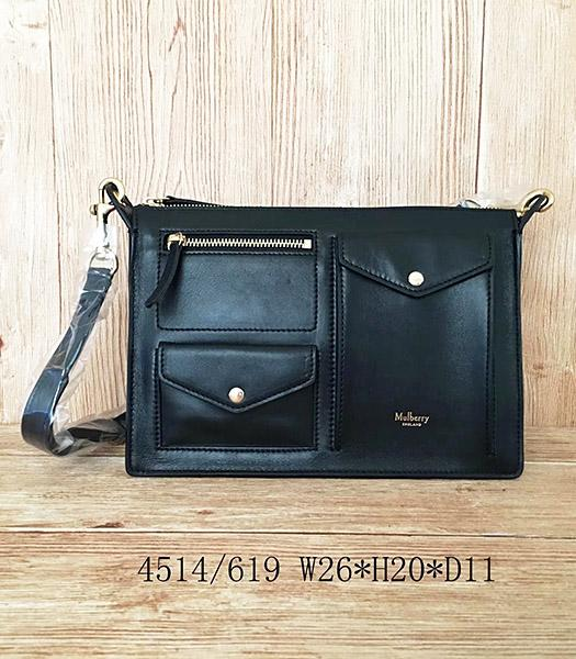 Mulberry Latest Style Black Leather Small Shoulder Bag