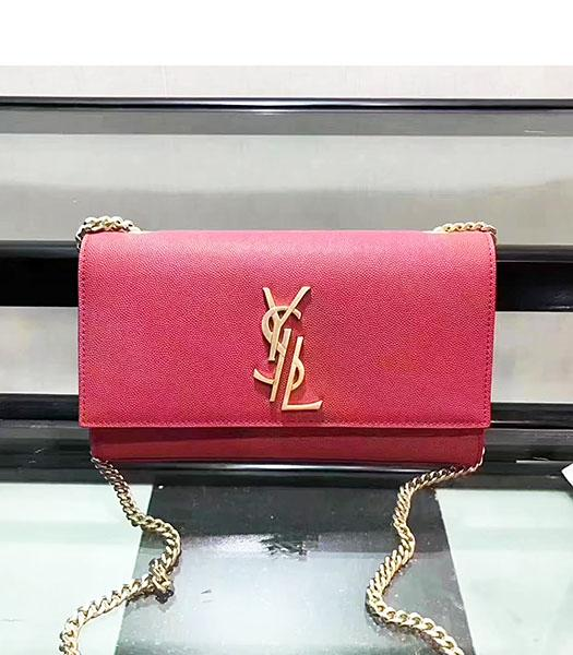 YSL Red Original Caviar Leather Chains Shoulder Bag