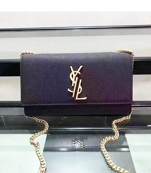 YSL Black Original Caviar Leather Chains Shoulder Bag