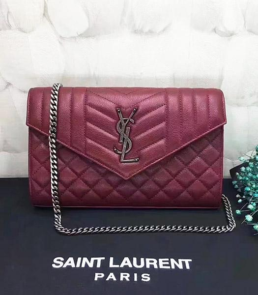YSL Kate Monogram Red Leather Quilted Small Bag