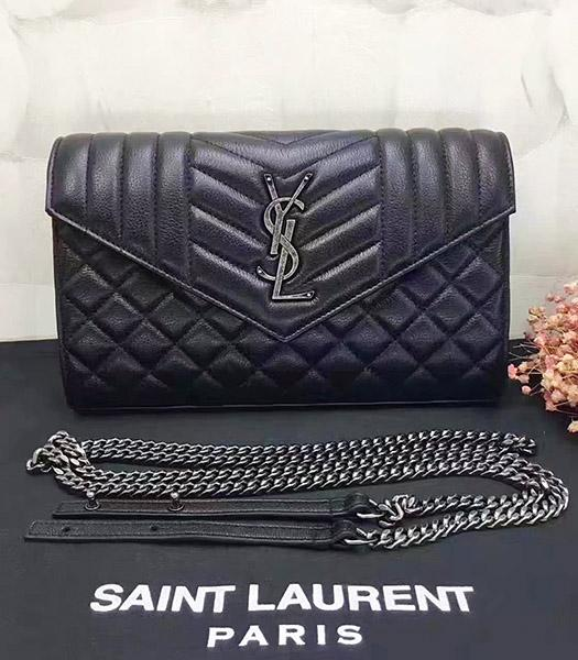 YSL Kate Monogram Black Leather Quilted Small Bag
