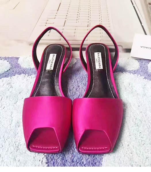 Balenciaga Fuchsia Silk 4.5cm Low Heel Sandals