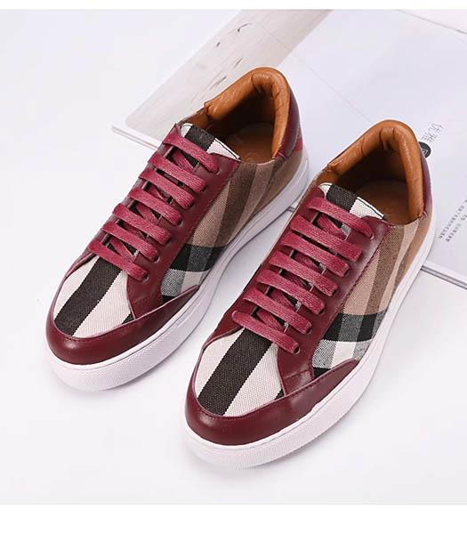Burberry Mixed Colors Casual Shoes Red