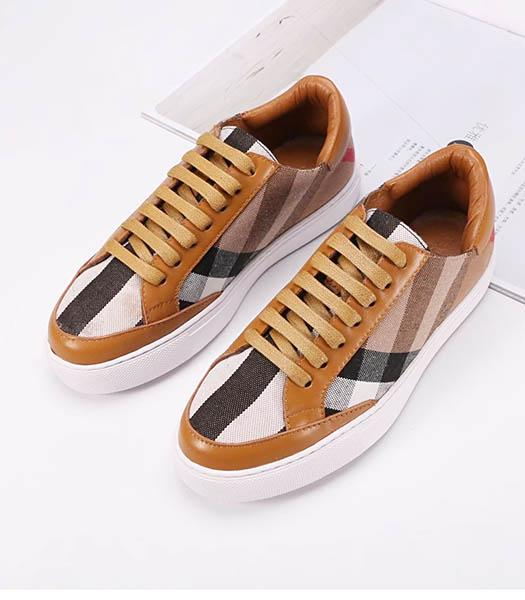 Burberry Mixed Colors Casual Shoes Coffee
