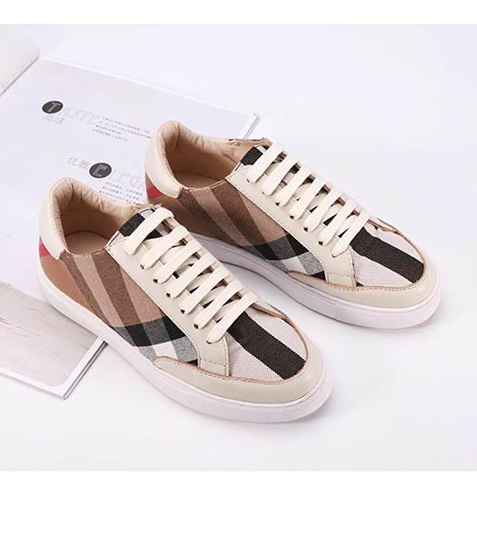 Burberry Mixed Colors Casual Shoes White