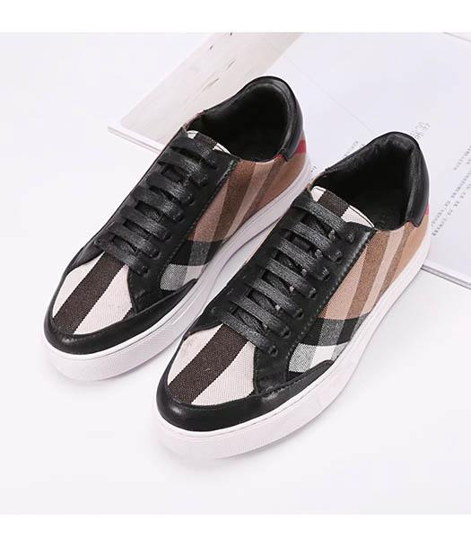 Burberry Mixed Colors Casual Shoes Black