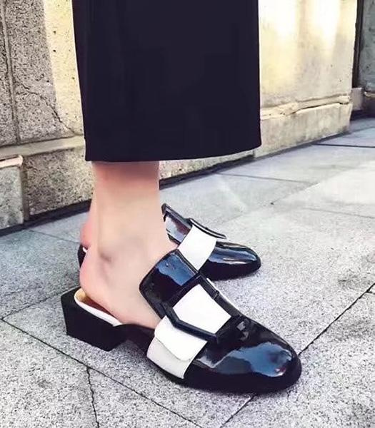 Christian Dior Patent Leather Casual Sandals Black