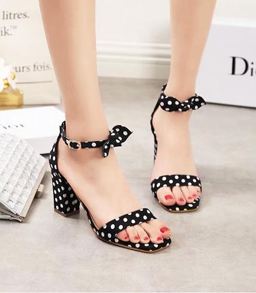 Christian Dior Spots Printed Casual Sandals Black