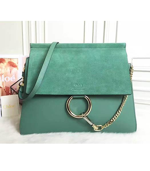 Chloe Faye New Style Green Leather Shoulder Bag