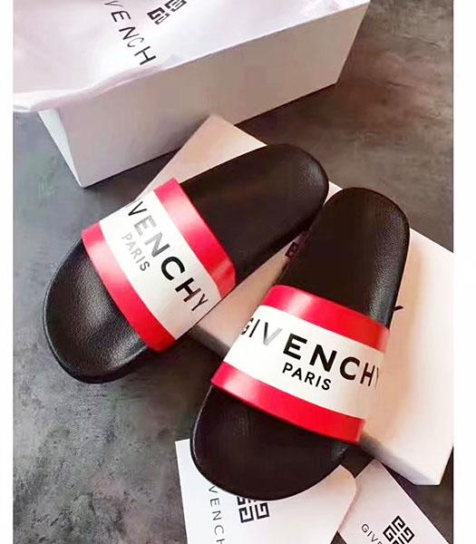 Givenchy Mixed Colors Leather Casual Slippers White