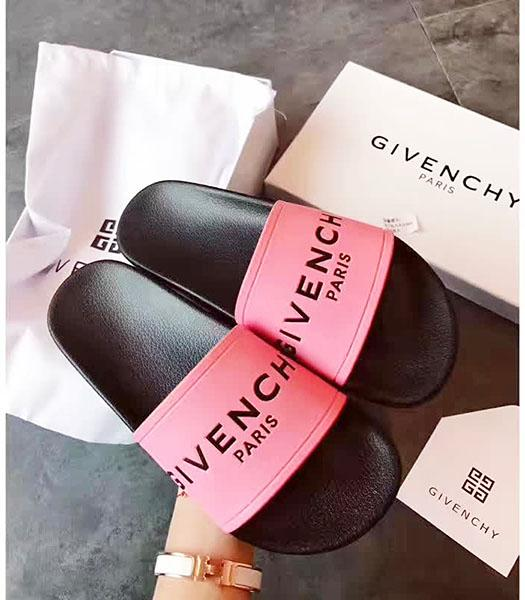Givenchy Fuchsia Leather Flat Casual Slippers
