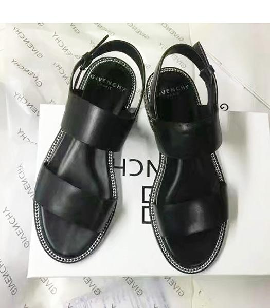 Givenchy Black New Style Calfskin Leather Sandals Shoes