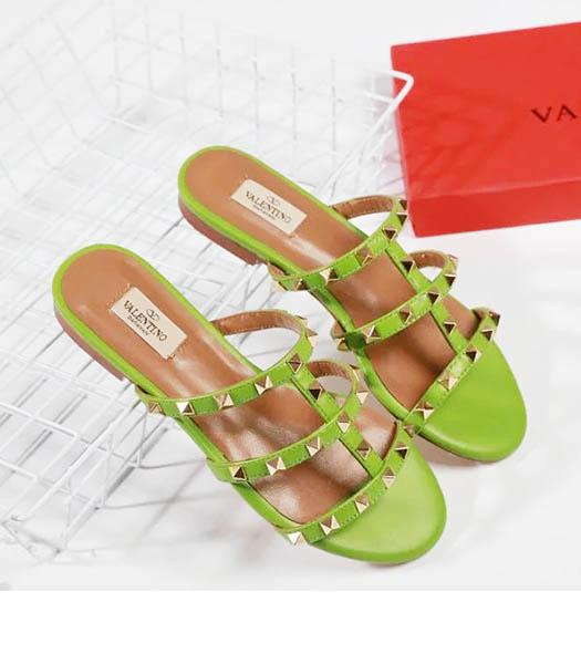 Valentino Apricot New Style Sheepskin Leather Slippers