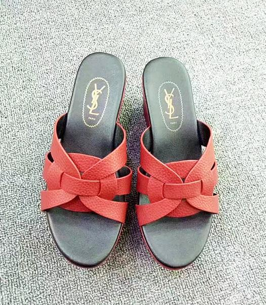 Yves Saint Laurent New Style Wedges Sandals Red