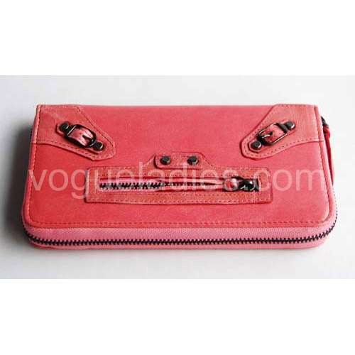 Balenciaga Giant Compagnon Wallet in Peach Red 09005